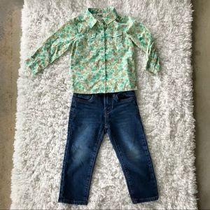 Oshkosh & Lucky Brand Girls Outfit